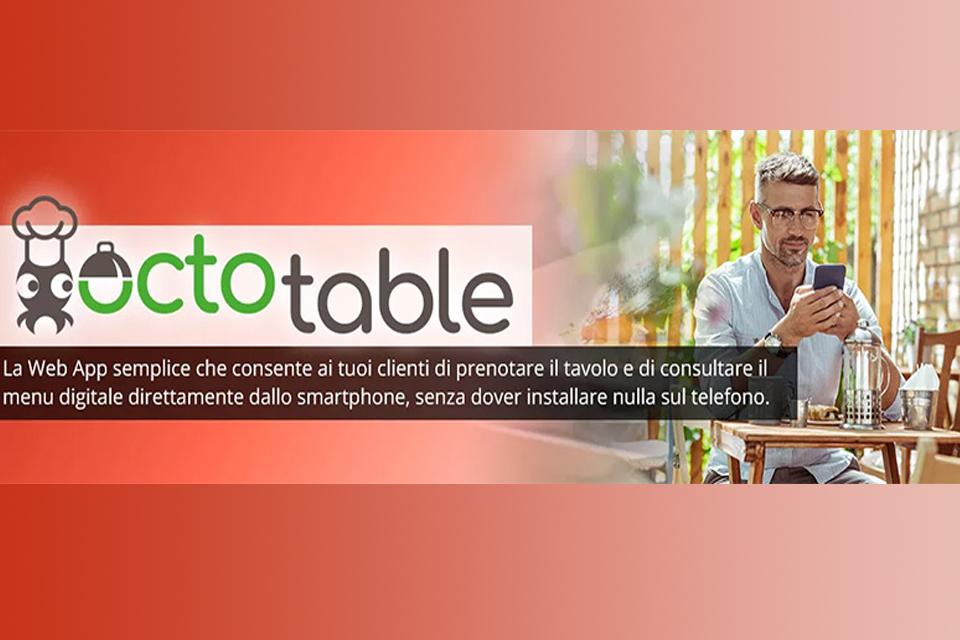 Octotable: la web app per gestire il menu digitale e la prenotazione dei tavoli