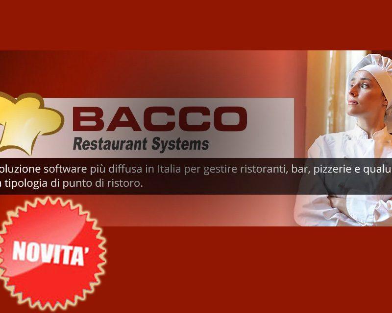 hai un ristorante, bar, pizzeria, scopri Bacco il software più venduto