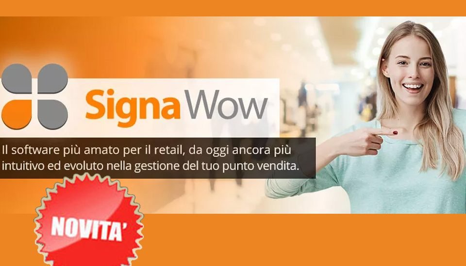 Signa Wow il software per negozi abbigliamento, calzature, accessori